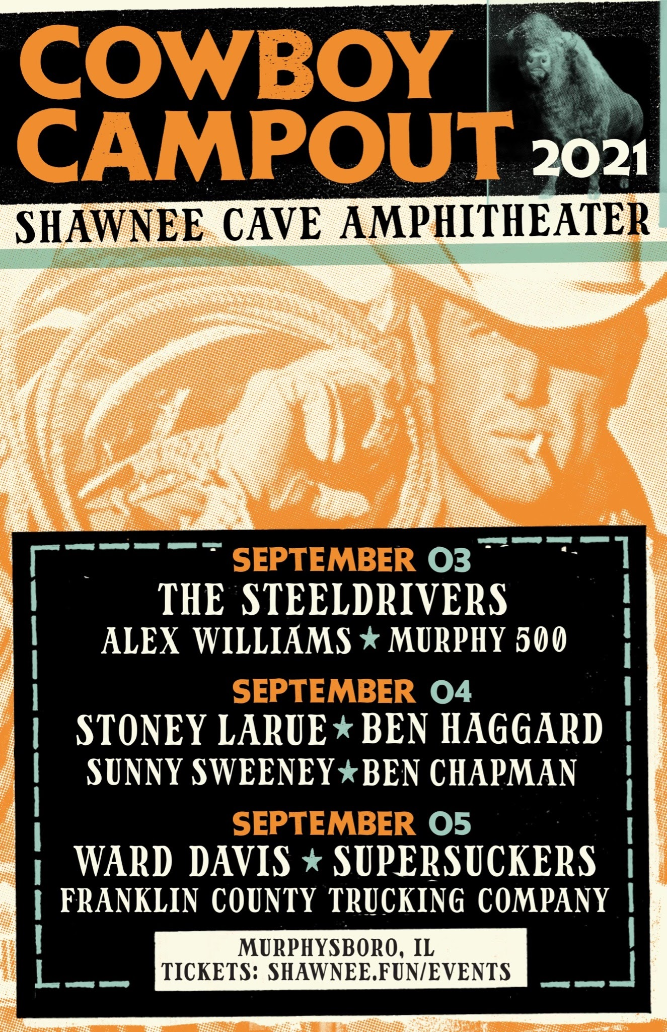 The Shawnee Cave Amphitheater Announces Labor Day Weekend Music Event Cowboy Campout 2021